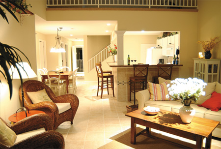 Four Bedroom Living Room Condo Sample